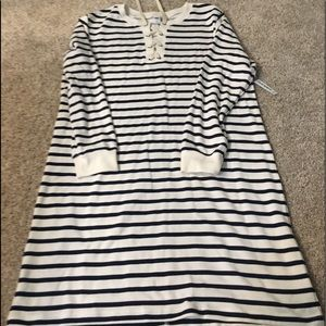 Nautical old navy lace up dress